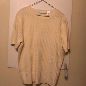 Alfred Dunner short sleeve sweater women's  large